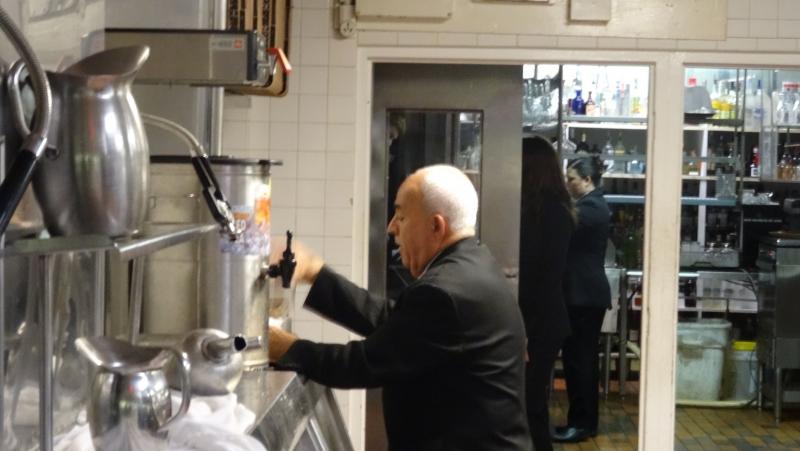 Longest serving waiter at Bern's