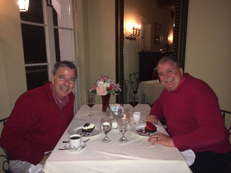 Valentine's dinner at the Main Dining Room