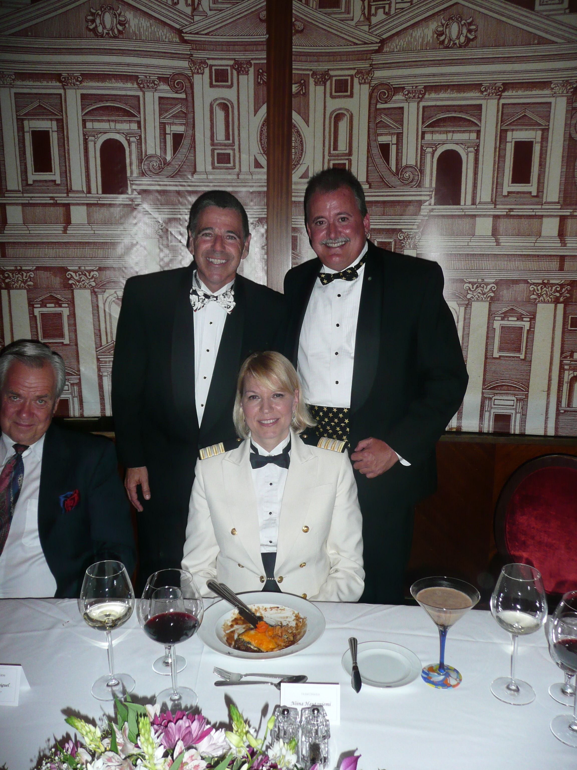 Steves at Hotel Director Table
