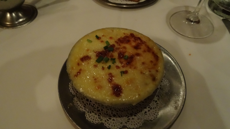 French onion soup with yummy cheese on top