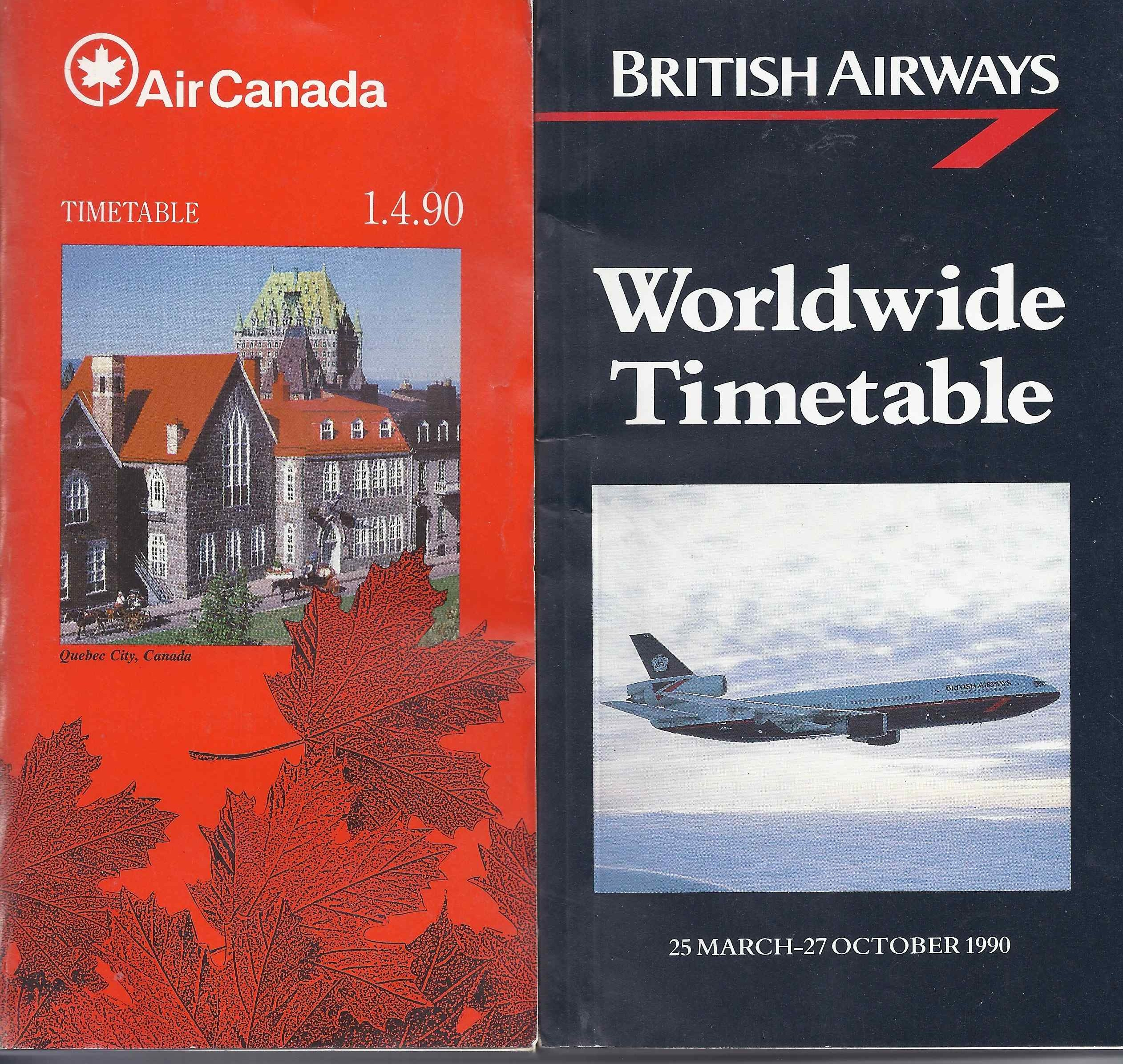 Air Canada - British timetables