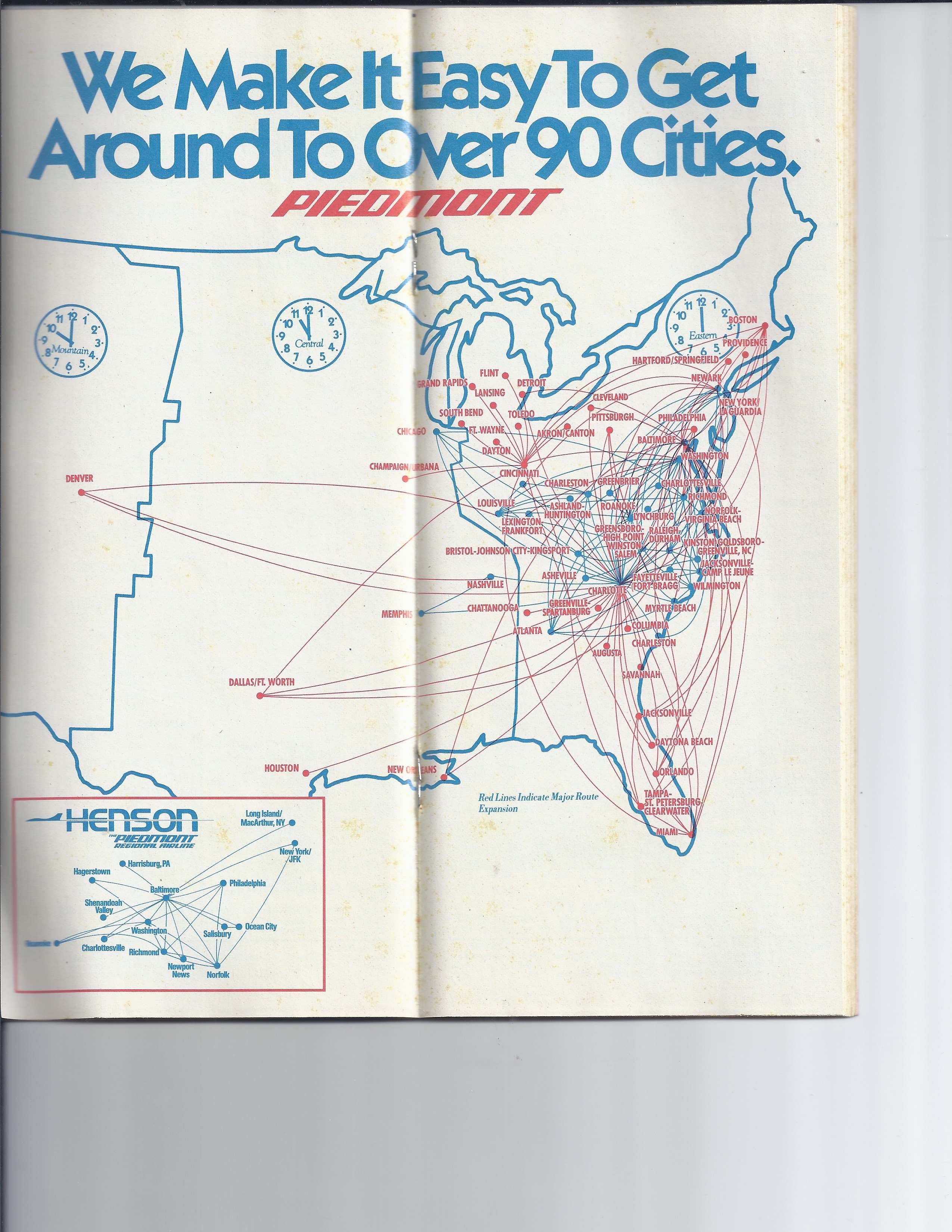 1980\'s Airline Timetables – The Traveling Steve\'s