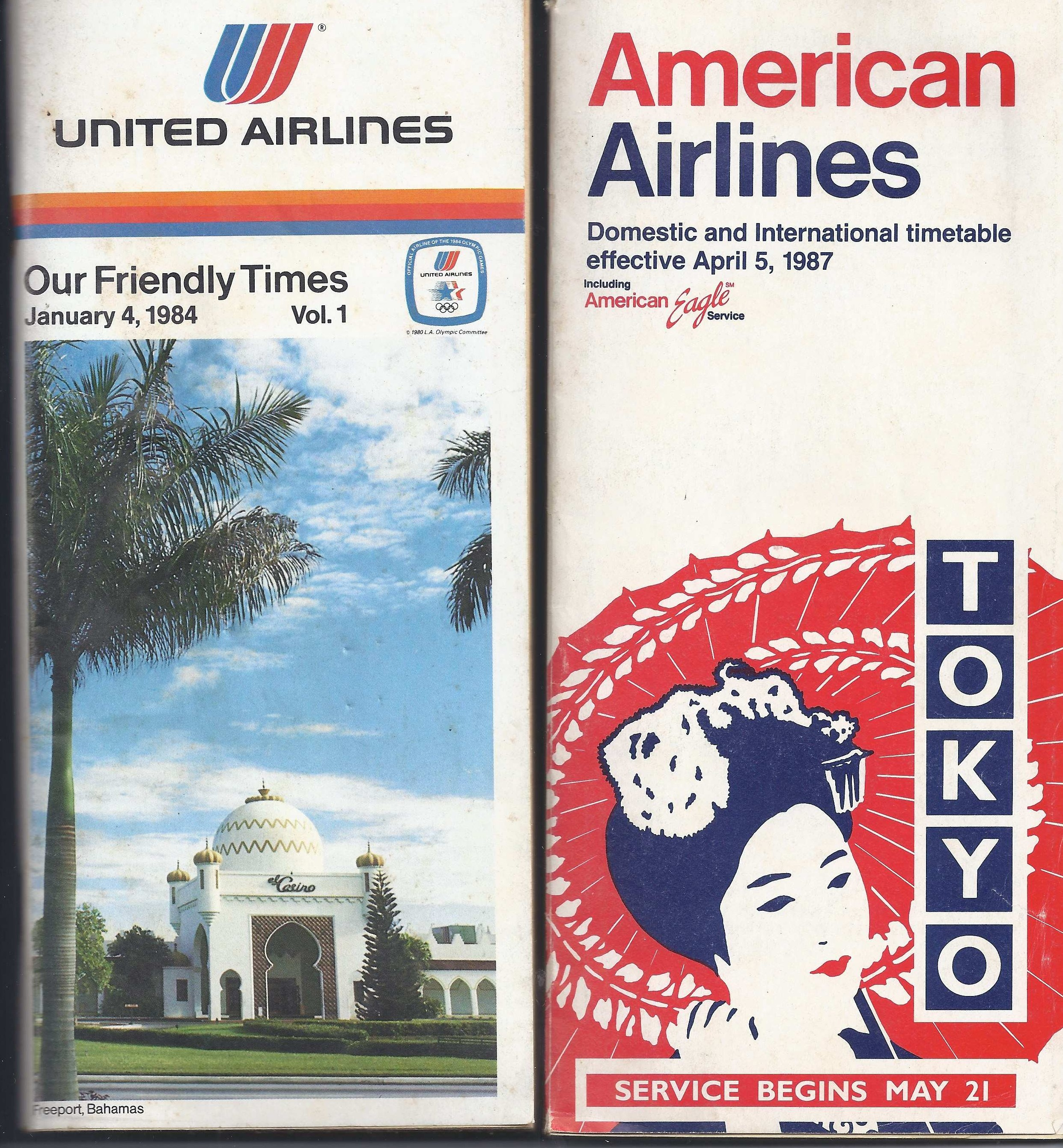 United AA timetables