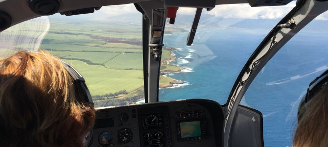 Maui by helicopter!