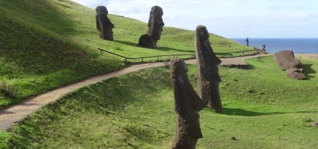 From the Quarry to the beach: Our Easter Island tour continues . . .
