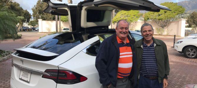 Wine touring around Santa Barbara in a Tesla!