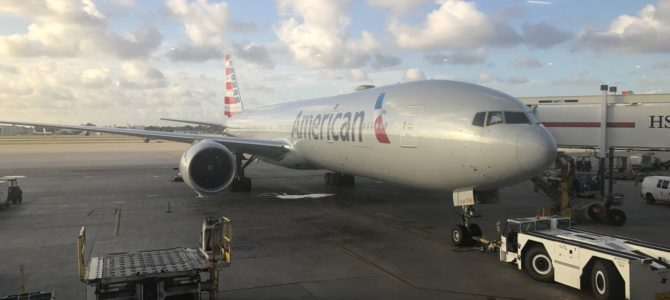 Miami to London – American Airlines 777 First Class